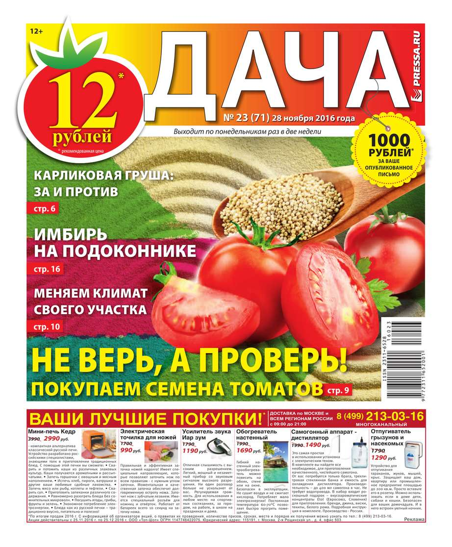 Редакция газеты Дача Pressa.ru Дача Pressa.ru 23-2016 александр левин дача раздора