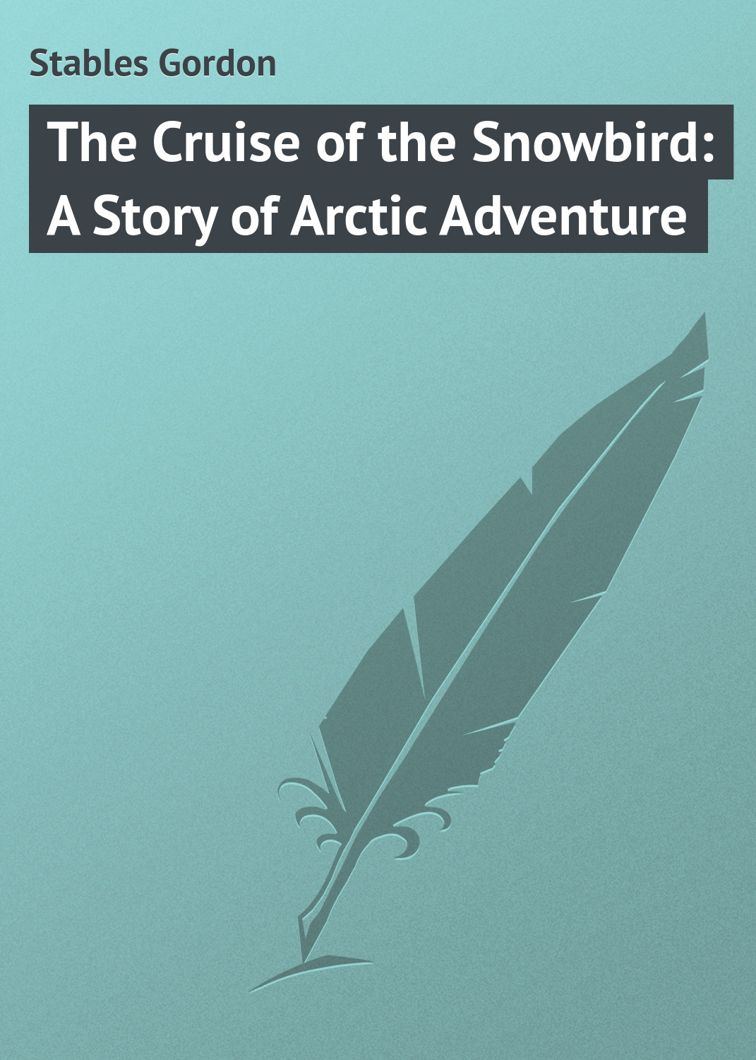Stables Gordon The Cruise of the Snowbird: A Story of Arctic Adventure goodwin harold leland the flying stingaree a rick brant science adventure story