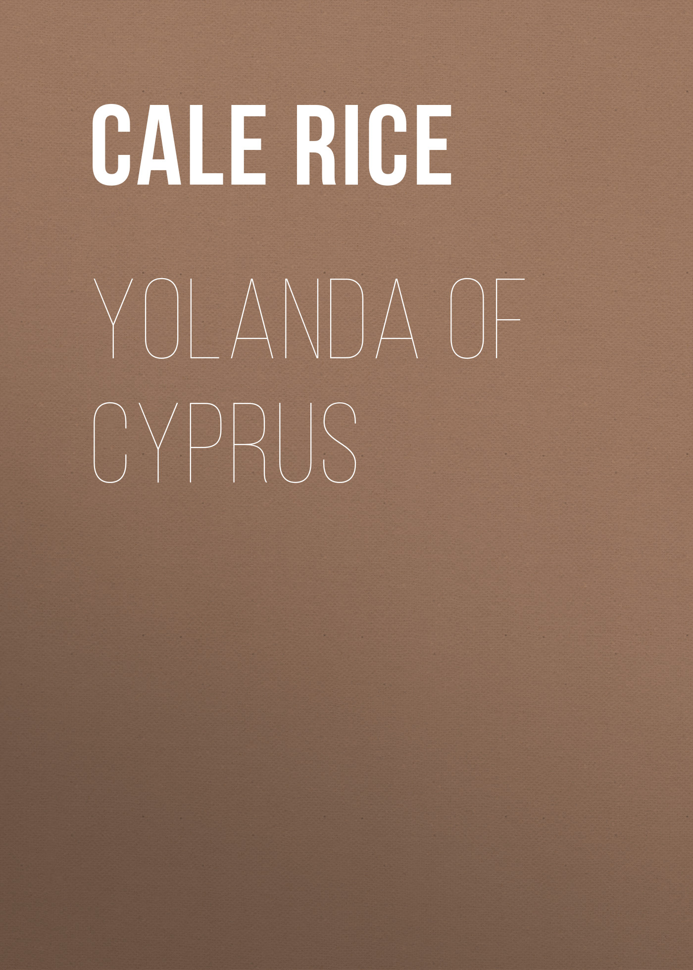 Rice Cale Young Yolanda of Cyprus