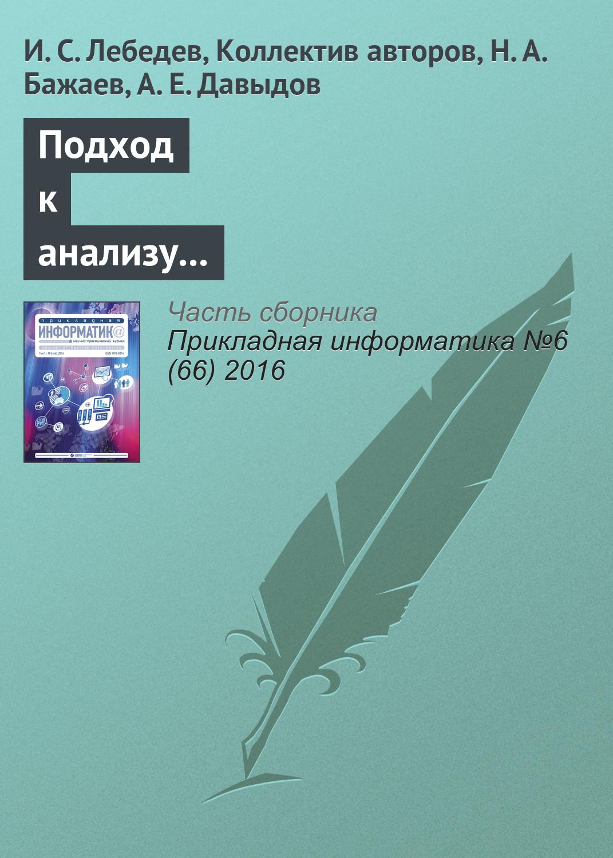 И. С. Лебедев Подход к анализу состояния информационной безопасности беспроводной сети