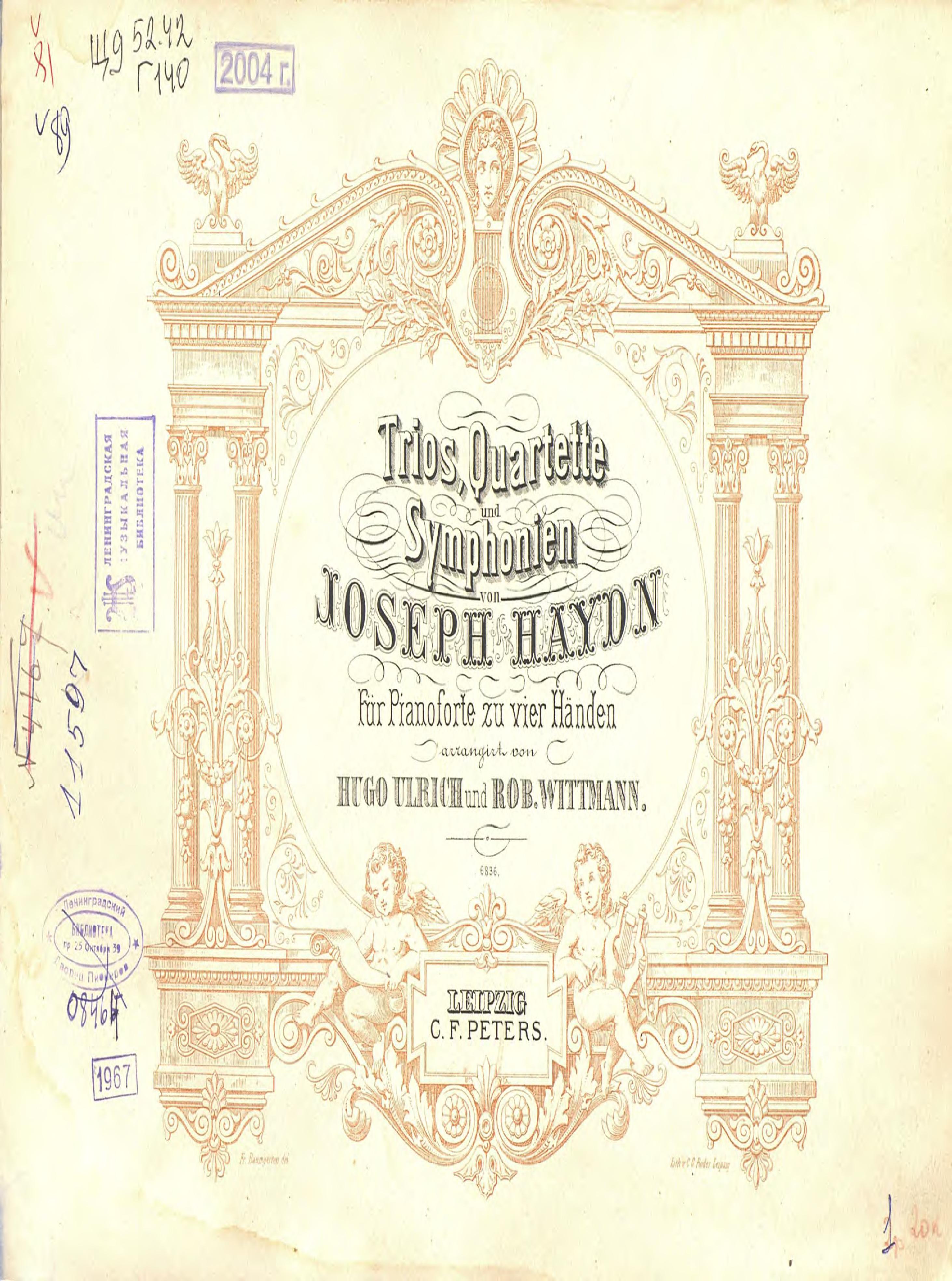 Йозеф Гайдн Trios, Quartette und Symphonien von Ioseph Haydn