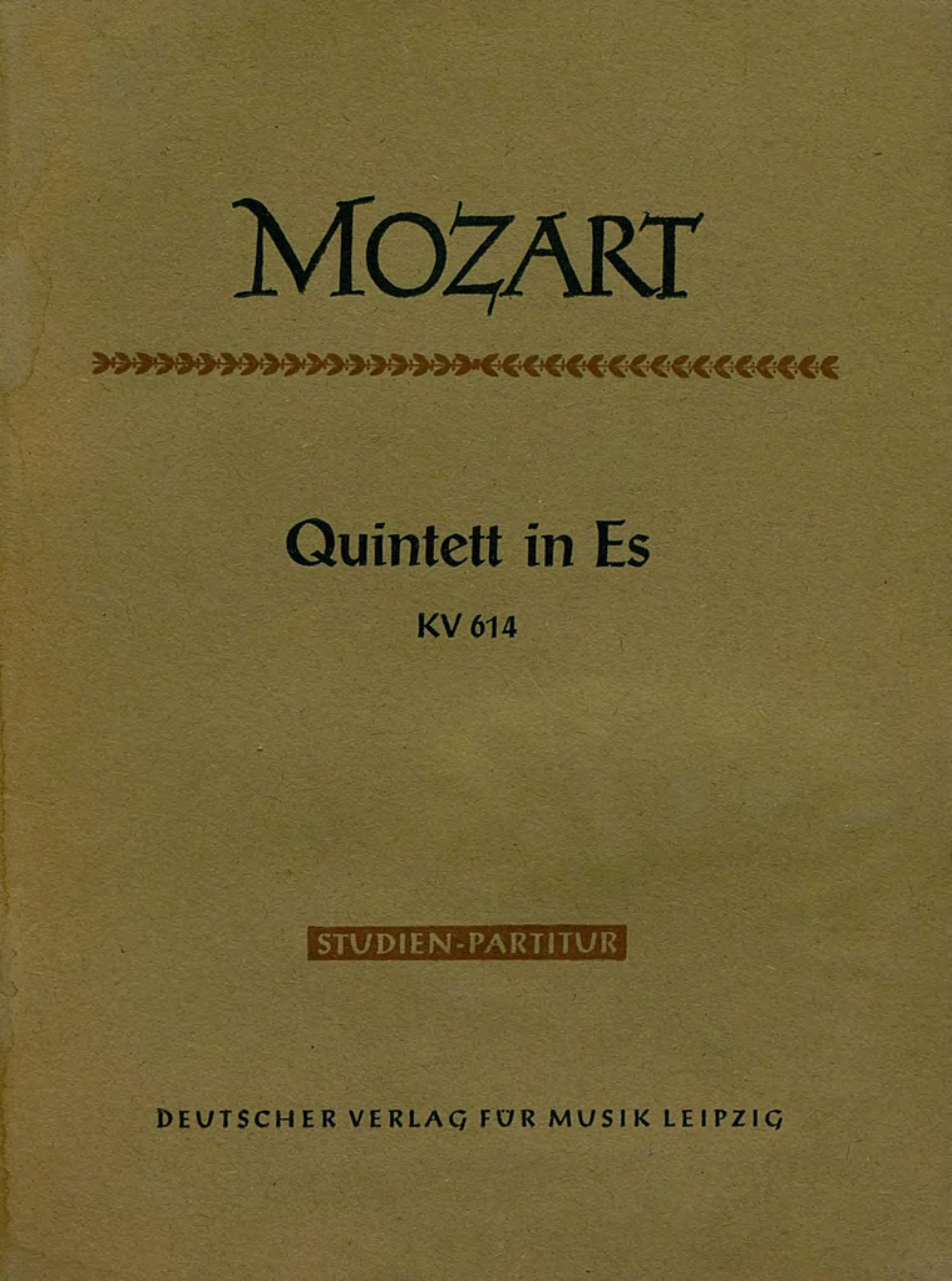Вольфганг Амадей Моцарт Quintett in Es fur 2 Violinen, 2 Violen u. Violoncello вольфганг амадей моцарт fantaisie ii in c mol pour piano a 2 mains
