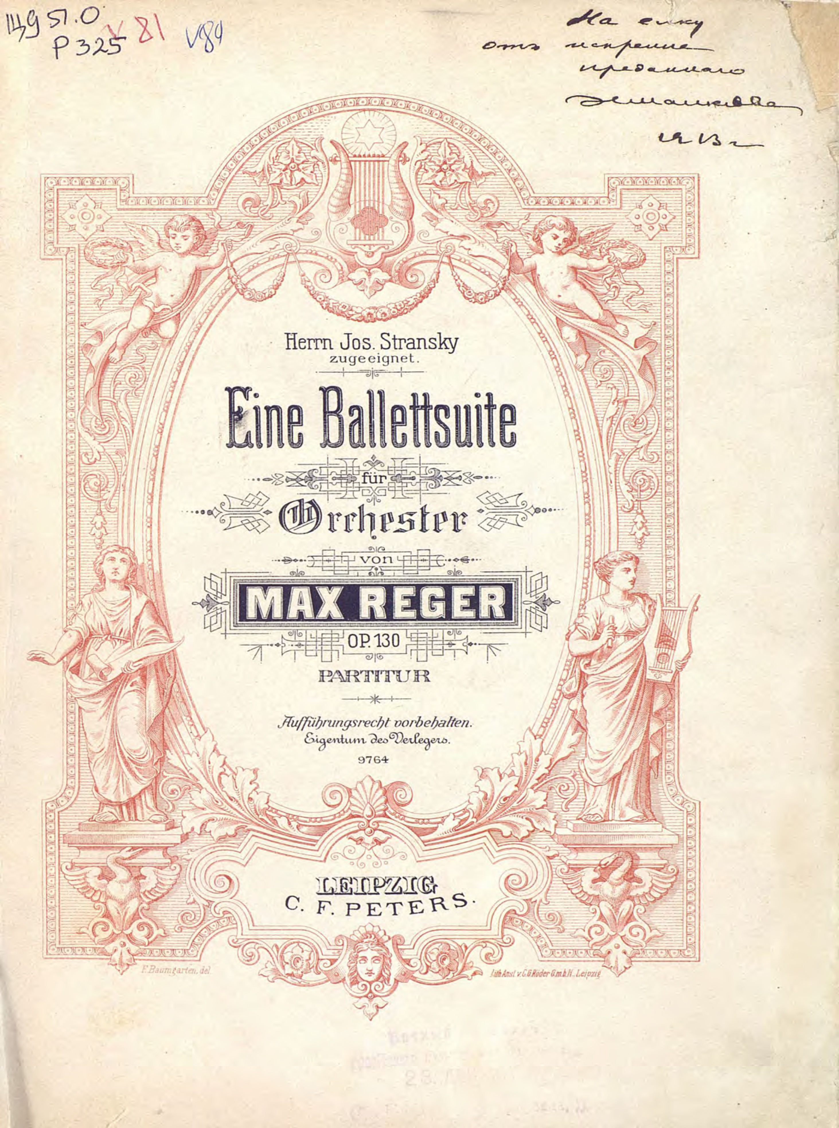 Макс Регер Fine Ballettsuite fur Orchester v. Max Reger max raabe and palast orchester hagen