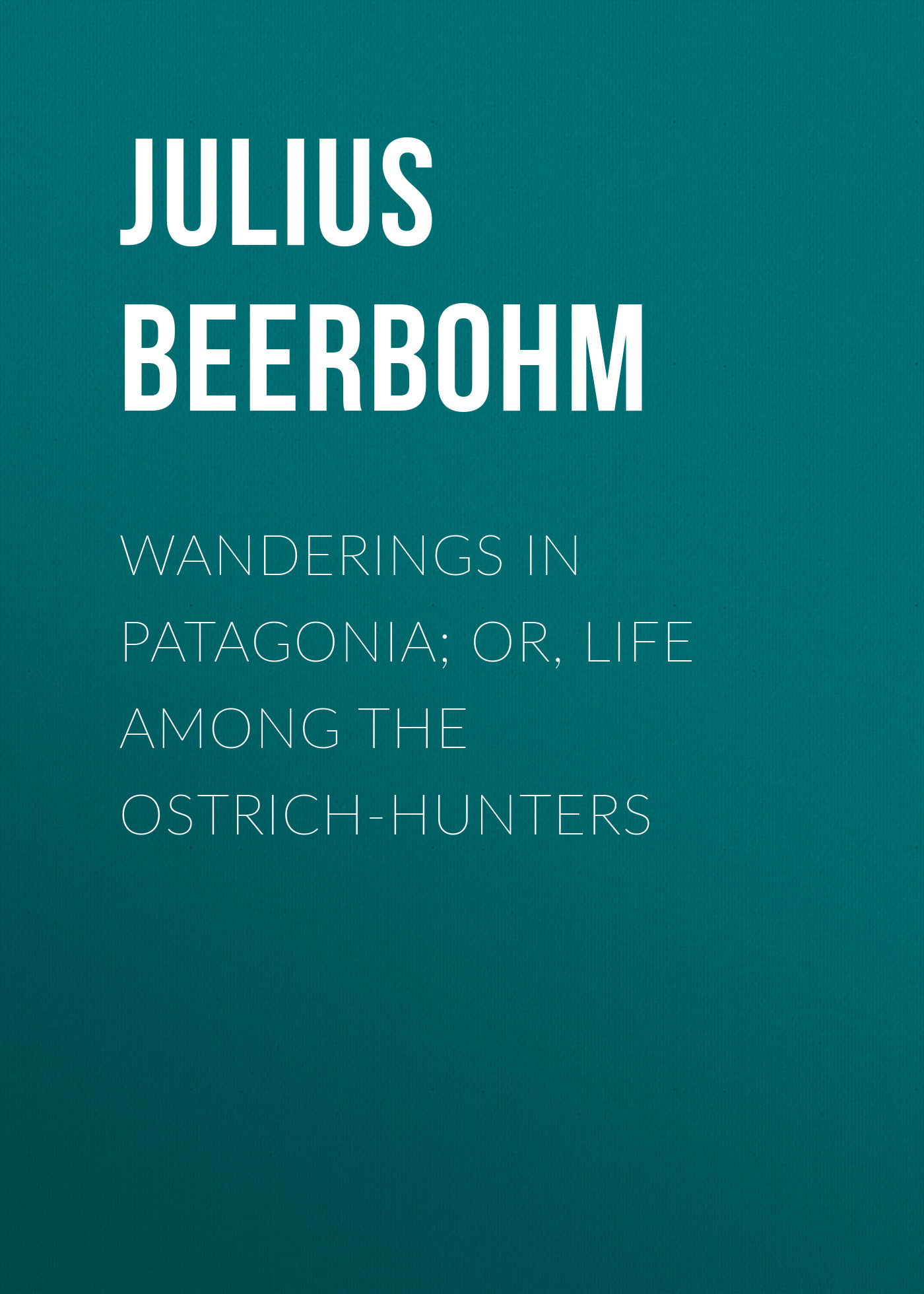 Beerbohm Julius Wanderings in Patagonia; Or, Life Among the Ostrich-Hunters rebecca harding davis life in the iron mills or the korl woman