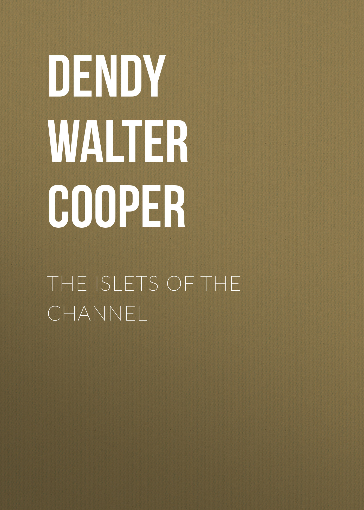 Dendy Walter Cooper The Islets of the Channel cooper j the pathfinder or the inland sea