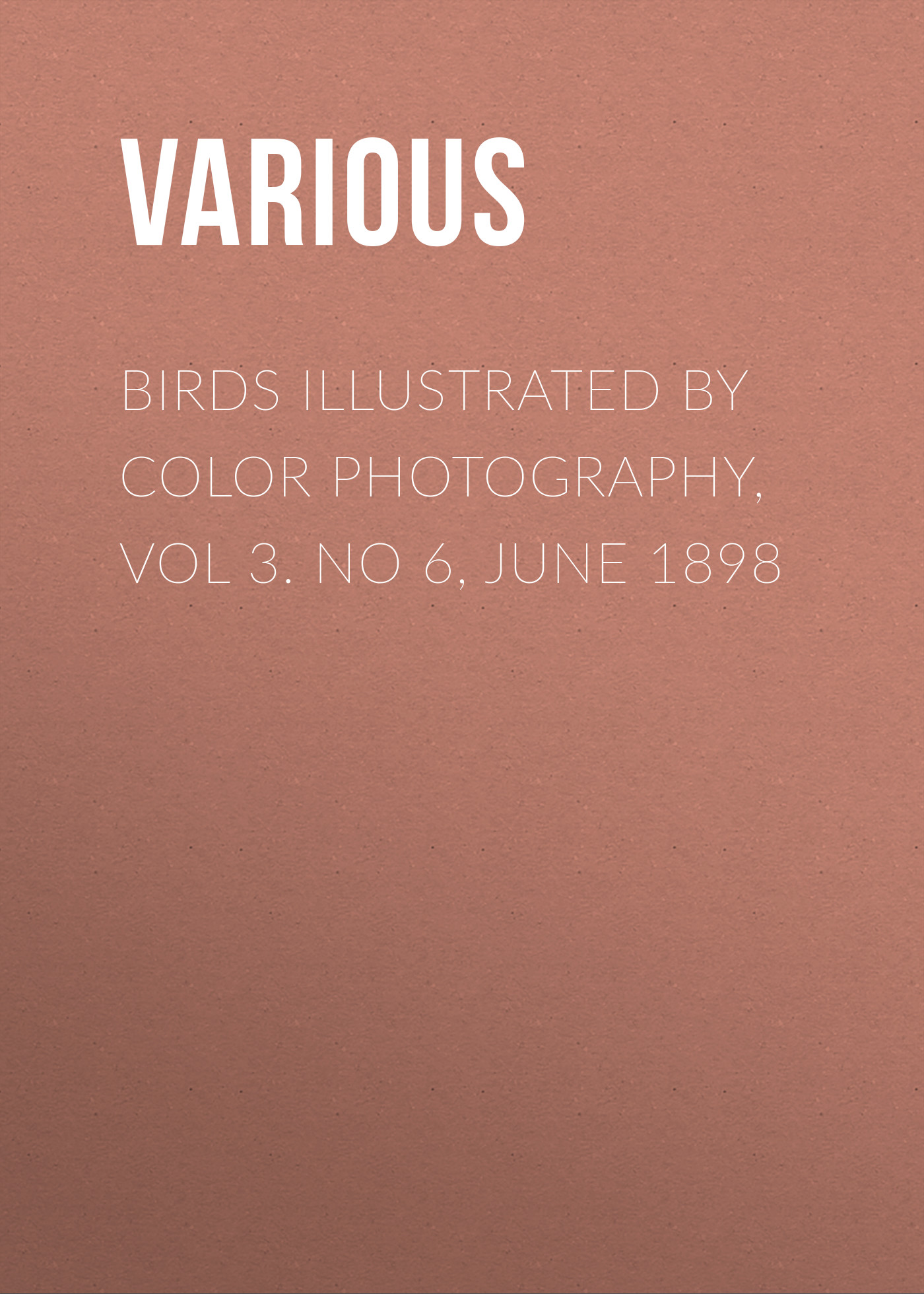 Various Birds Illustrated by Color Photography, Vol 3. No 6, June 1898 allenjoy thin vinyl cloth photography backdrop blue pure color photography background for studio photo props mh 089