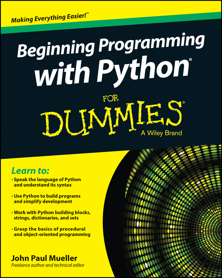 John Mueller Paul Beginning Programming with Python For Dummies sop8 to dip8 programming adapter socket module black green 150mil