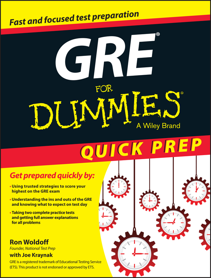 Ron Woldoff GRE For Dummies Quick Prep cracking the gre premium edition with 6 practice tests 2019