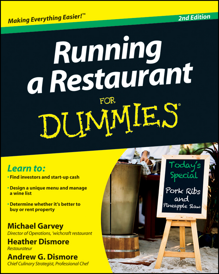 Heather Dismore Running a Restaurant For Dummies cooking up a business