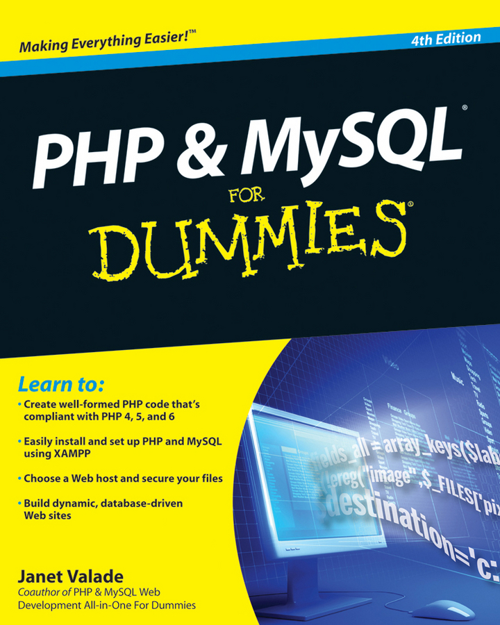Janet Valade PHP and MySQL For Dummies is php