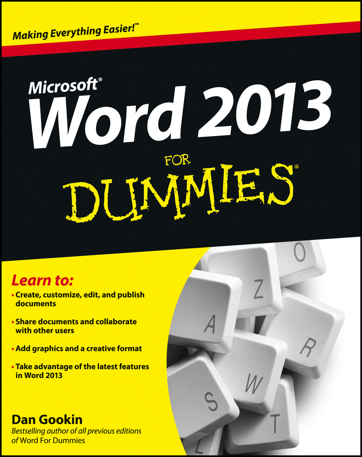 Dan Gookin Word 2013 For Dummies dan gookin android phones for dummies