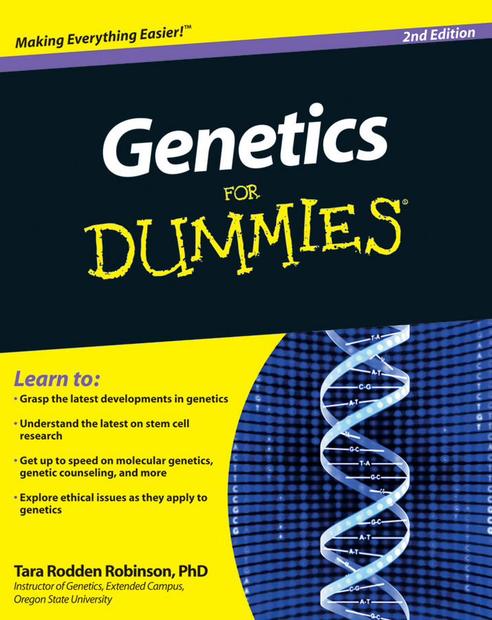 Tara Robinson Rodden Genetics For Dummies citilux спот citilux винон cl519514 sf3bz4u