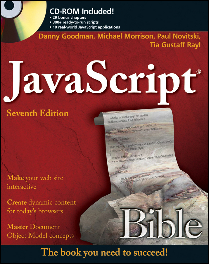 Danny Goodman JavaScript Bible jeremy keith dom scripting web design with javascript and the document object model