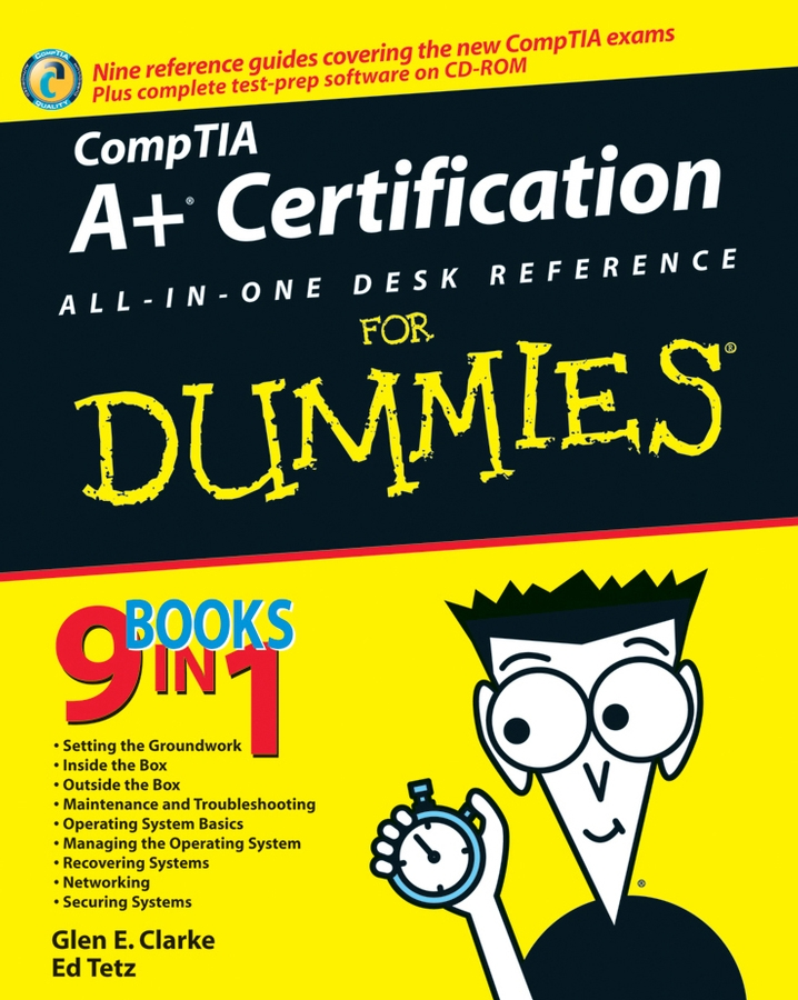 Edward Tetz CompTIA A+ Certification All-In-One Desk Reference For Dummies premium c1 coursebook exams review test cd pack