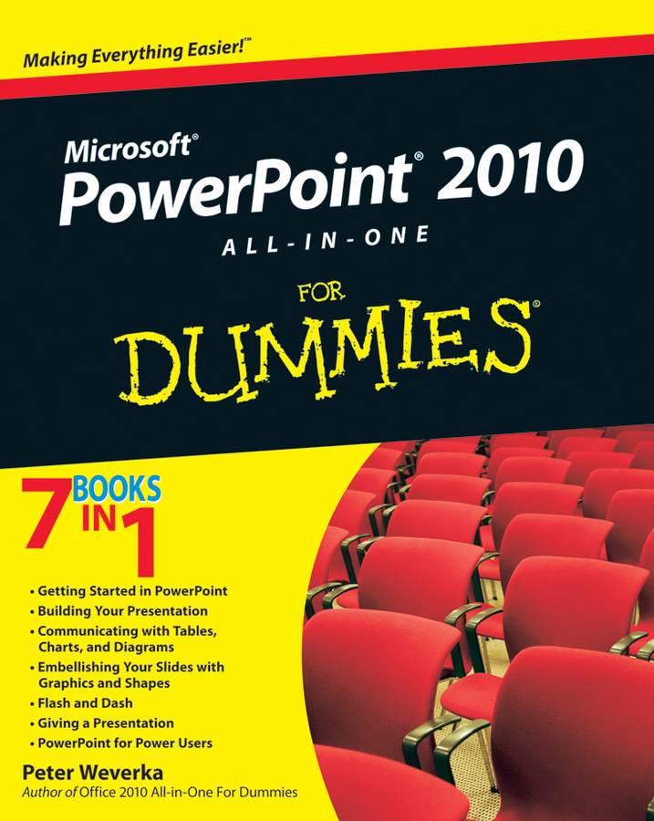 Peter Weverka PowerPoint 2010 All-in-One For Dummies peter weverka office 2016 all in one for dummies