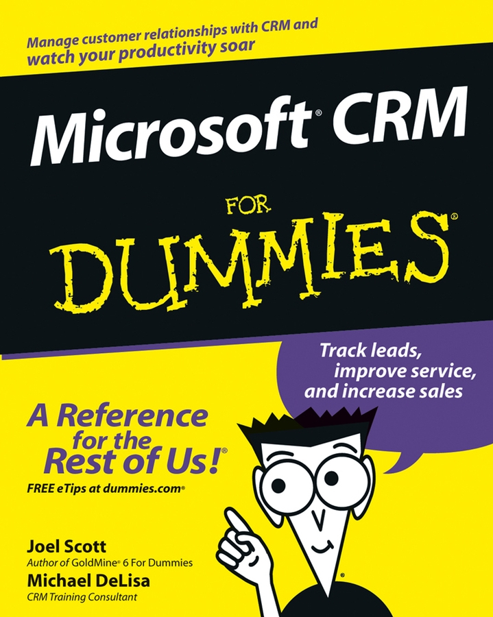 Joel Scott Microsoft CRM For Dummies electronic customer relationship management