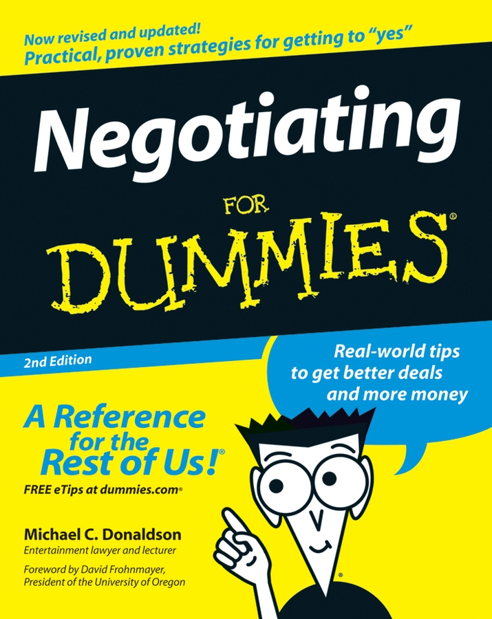 Donaldson Negotiating For Dummies negotiating the artist