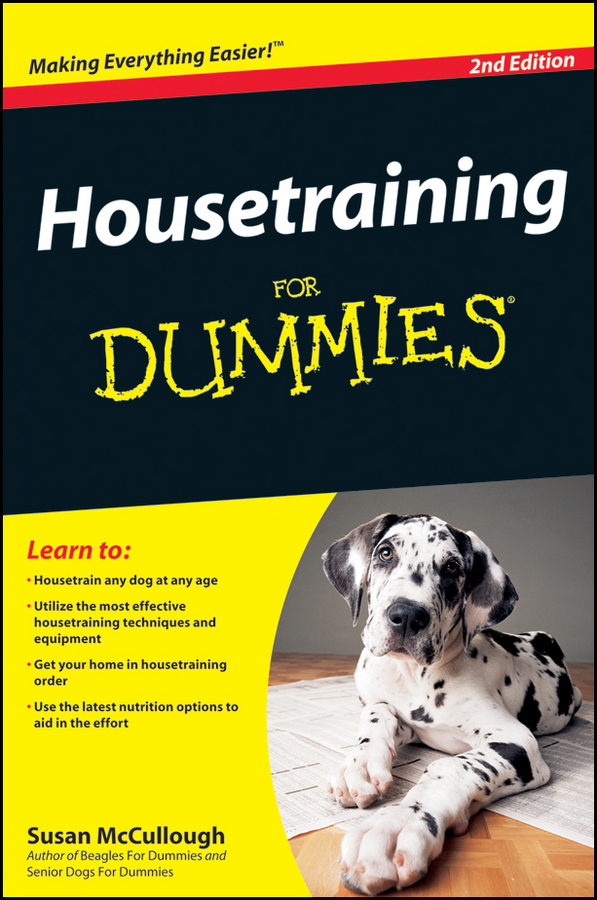 Susan McCullough Housetraining For Dummies adjustable pet dog traction rope