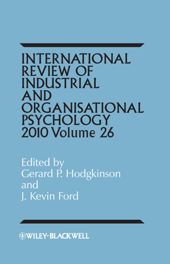 Ford J. Kevin International Review of Industrial and Organizational Psychology, 2011 Volume 26