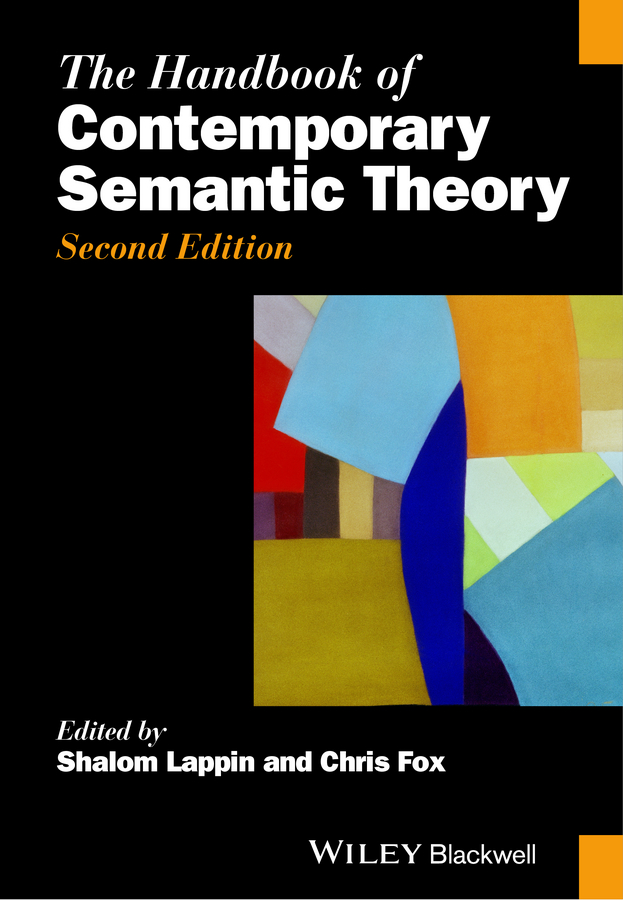 Shalom Lappin The Handbook of Contemporary Semantic Theory semantic cognition – a parallel distributed processing approach