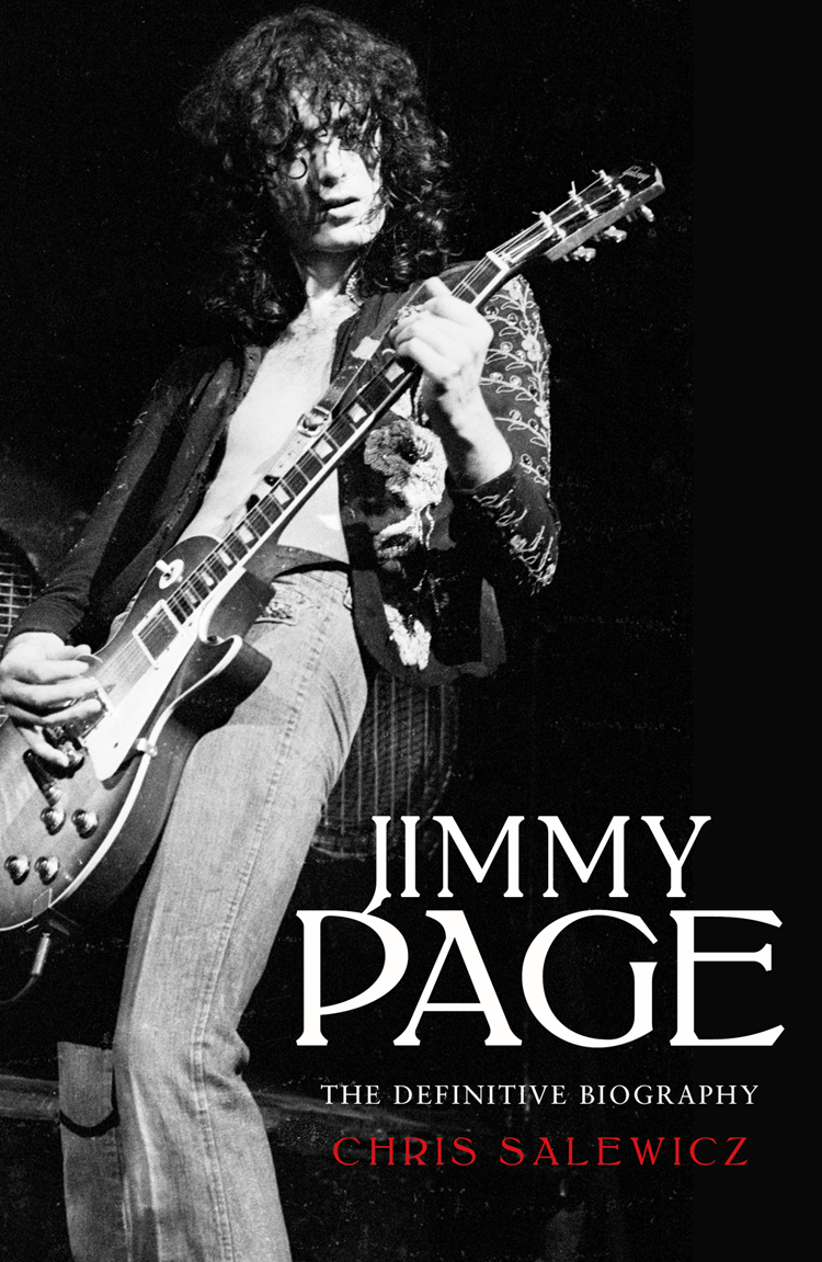 Chris Salewicz Jimmy Page: The Definitive Biography jimmy page miniature guitar led zeppelin gibson les paul