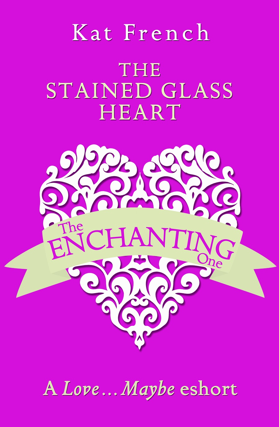 Kat French The Stained Glass Heart: A Love…Maybe Valentine eShort valentine s day sparkly heart print waterproof shower curtain