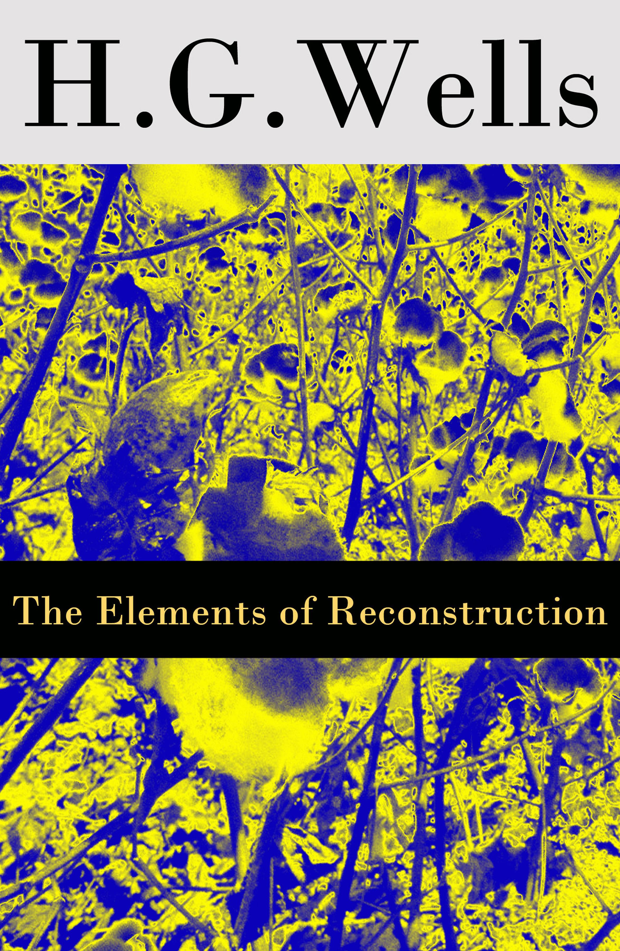 Герберт Уэллс The Elements of Reconstruction (The original unabridged edition) герберт уэллс this misery of boots or socialism means revolution the original unabridged edition