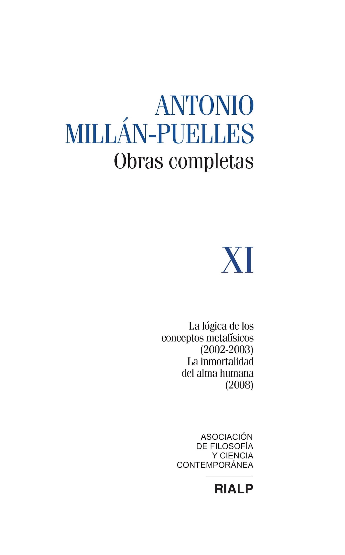 Antonio Millán-Puelles Millán-Puelles Vol. XI Obras Completas david millán escrivá robert laganiere opencv 4 computer vision application programming cookbook