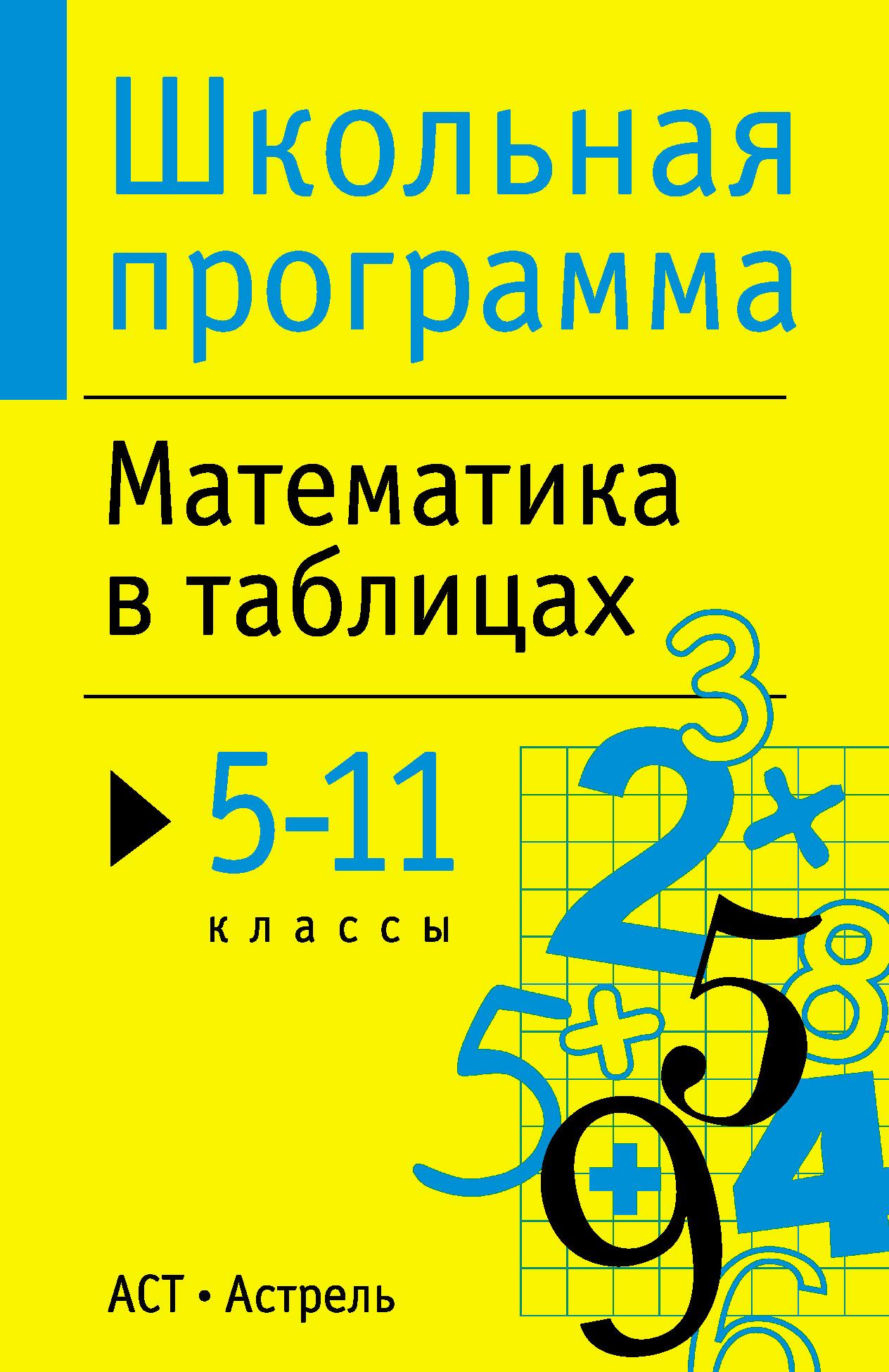 Отсутствует Математика в таблицах. 5-11 классы математика 5 6 классы алгебра 7 9 классы планируемые результаты система заданий