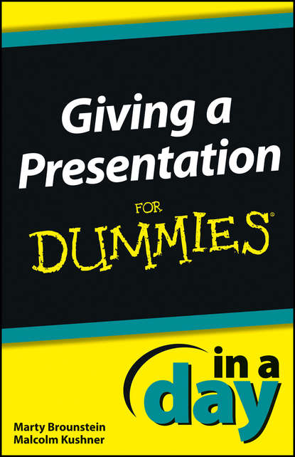 Malcolm Kushner Giving a Presentation In a Day For Dummies kevin ahern a limerick a day for a sixth year