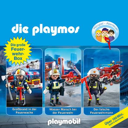 Simon X. Rost Die Playmos - Das Original Playmobil Hörspiel, Die große Feuerwehr-Box, Folgen 42, 57, 62 dennis richmann geschäftsprozessmanagement bei der feuerwehr