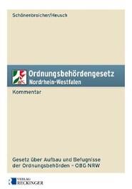 Ordnungsbehördengesetz Nordrhein-Westfalen – Kommentar