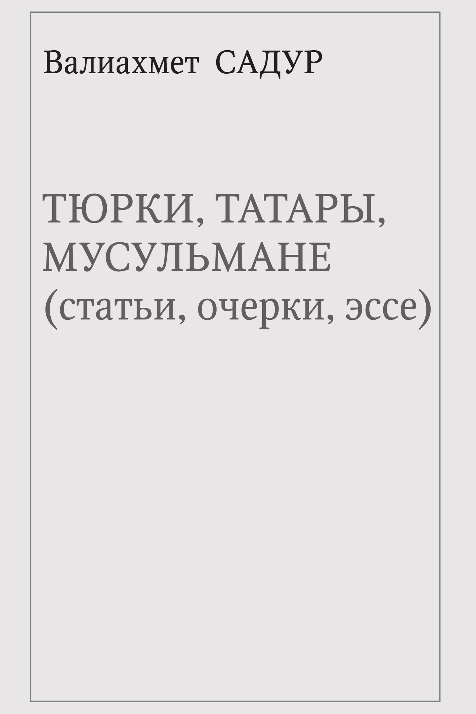 Валиахмет Садур, Тюрки, татары, мусульмане (статьи, очерки, эссе) – скачать pdf на ЛитРес