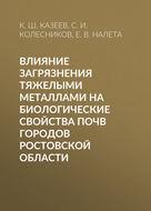 Влияние загрязнения тяжелыми металлами на биологические свойства почв городов Ростовской области