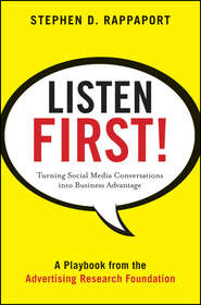Listen First!. Turning Social Media Conversations Into Business Advantage